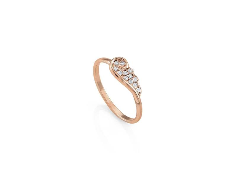 Product standard 145335 011 022   nomination italy   stone set rose gold angel wing ring    rose gold    8033497400482