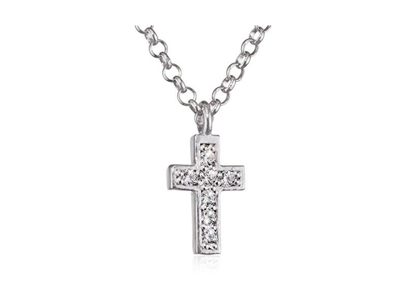 Product standard 146201 004   nomination italy   stone set silver gioie cross necklaces    silver   8033497391629