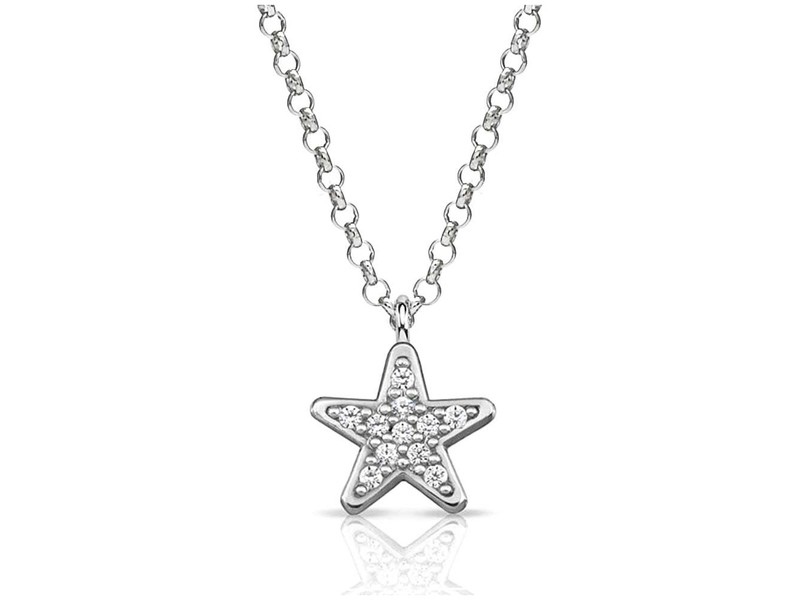 Product standard 146201 005   nomination italy   stone set silver gioie star necklaces    silver   8033497391636