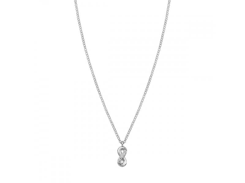 Product standard 146201 010   nomination italy   stone set silver gioie infinity necklaces    silver   8033497391681