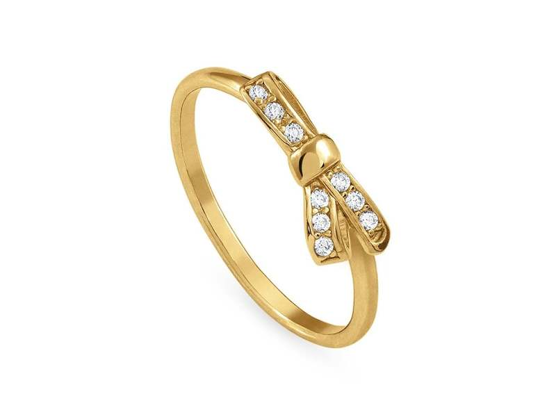 Product standard 146300 012 023   nomination italy   stone set my cherie gold bow ring    gold   8033497401083