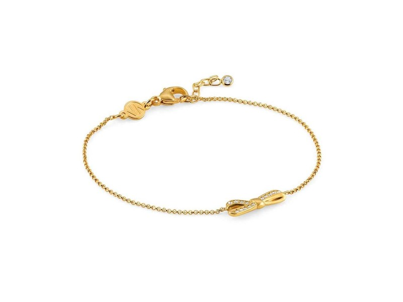 Product standard 146301 012   nomination italy   stone set my cherie small gold  bow bracelets    silver   8033497401137