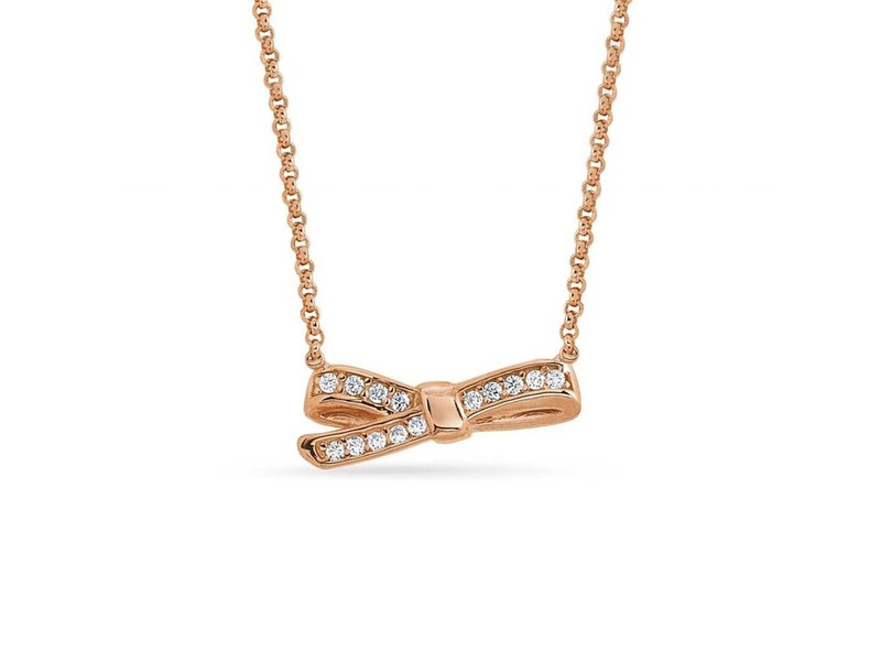 Product standard 146304 011   nomination italy   stone set rose gold mycherie bow necklaces    rose gold   8033497401243
