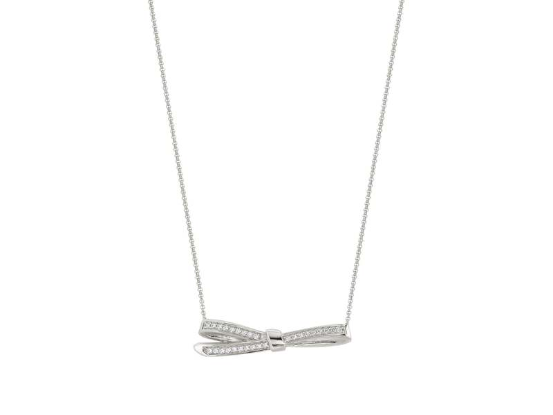 Product standard 146305 010   nomination italy   mycherie silver stone set bow necklaces    silver   8033497401267