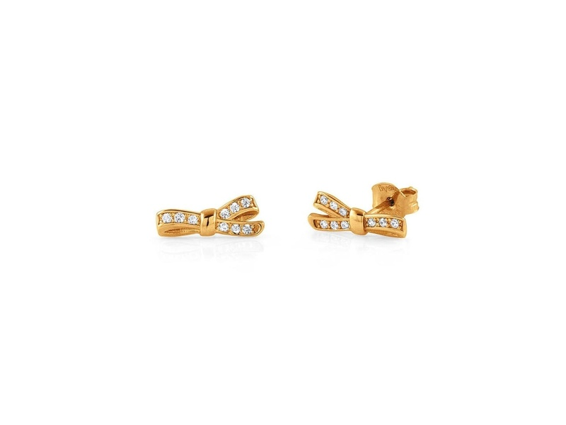 Product standard 146307 012   nomination italy   stone set my cherie gold bow earrings    silver   8033497401342