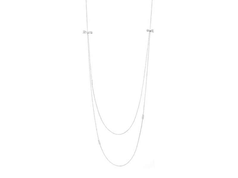 Product standard 146316 010   nomination italy   silver stone set bow necklaces    silver   8033497402677