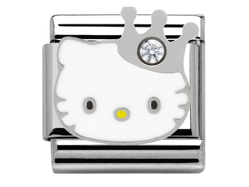 Product standard 230290 10   nomination italy   composable hello kitty crown link    stainless steel   8033497334381