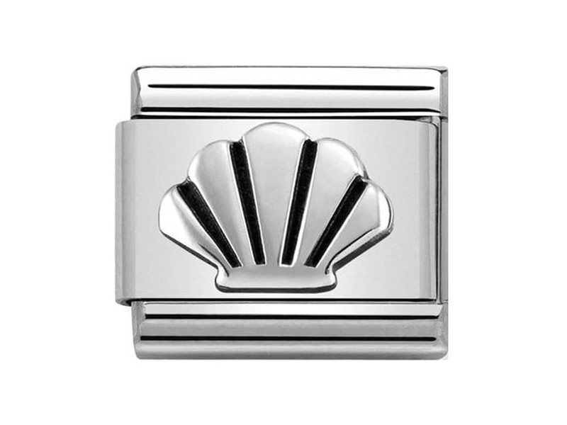 Product standard 330101 30   nomination italy   composable shell link   silver   8033497443656