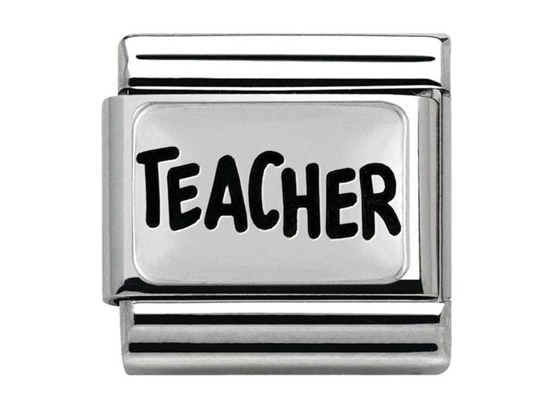 Product standard 330102 39   nomination italy   composable teacher link    silver   8033497409041