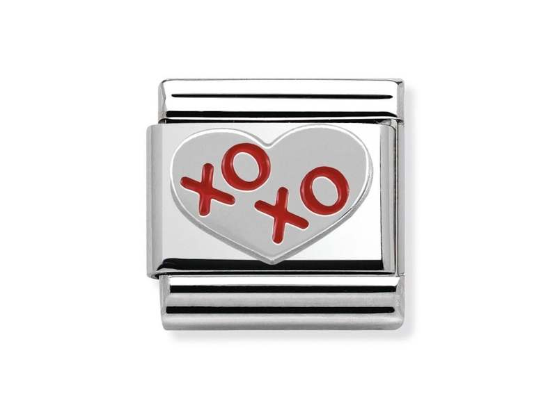 Product standard 330202 21   nomination italy   composable xoxo heart link   silver   8033497342621