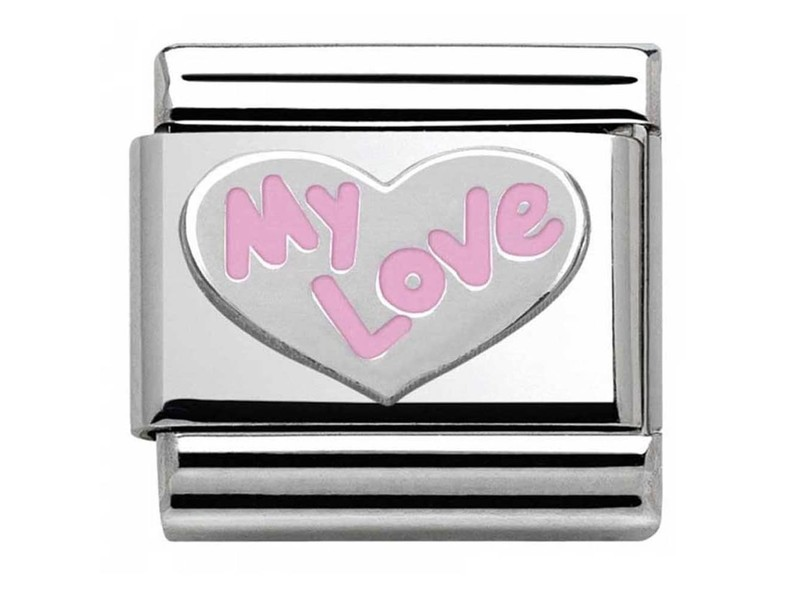 Product standard 330202 31   nomination italy   composable pink my love link   silver   8033497378910
