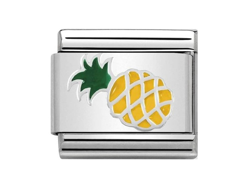 Product standard 330202 45   nomination italy   composable pineapple link   silver   8033497443762