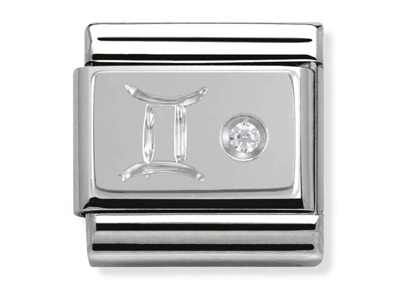 Product standard 330302 03   nomination italy   composable silver shine gemini link    silver   8033497274410