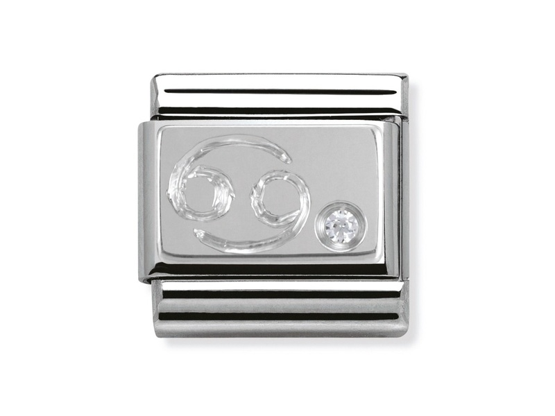 Product standard 330302 04   nomination italy   composable silver shine cancer link    silver   8033497274427