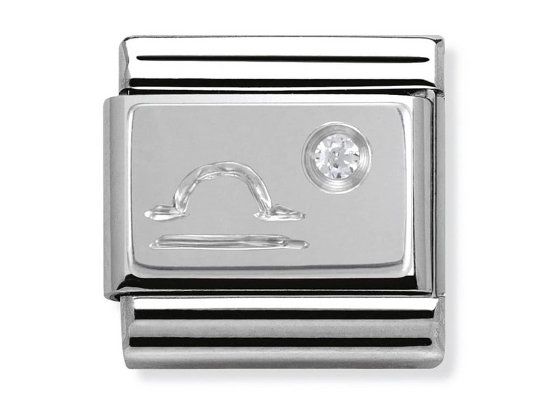 Product standard 330302 07   nomination italy   composable silver shine libra link    silver   8033497274458
