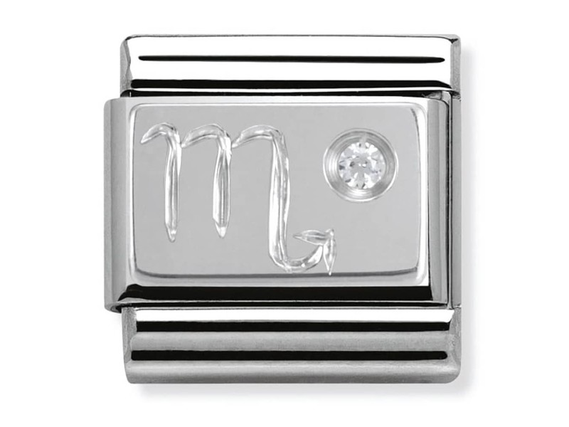 Product standard 330302 08   nomination italy   composable silver shine scorpio link    silver   8033497274465