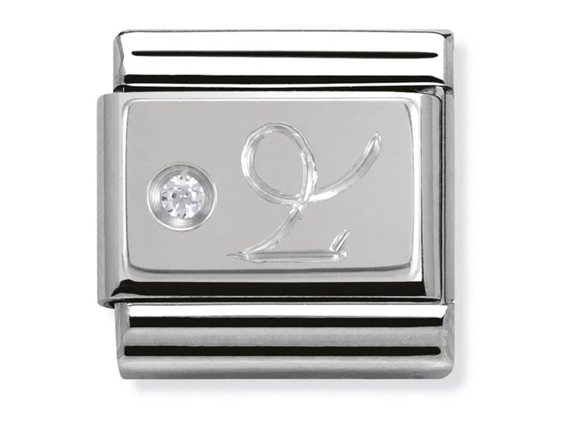 Product standard 330302 10   nomination italy   composable silver shine capricorn link    silver   8033497274489