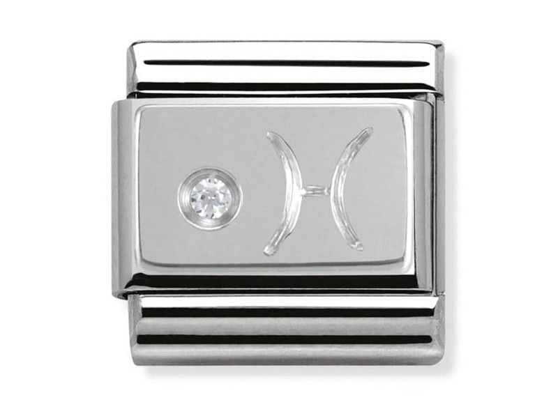 Product standard 330302 12   nomination italy   composable silver shine pisces link    silver   8033497274502