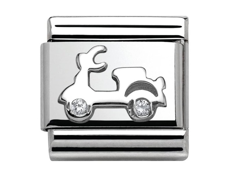 Product standard 330311 03   nomination italy   composable stone set vespa link    silver   8033497388506