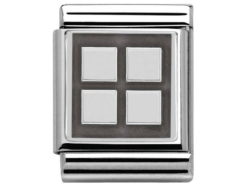 Product standard 332110 06   nomination italy   composable squares link   silver   8033497304384