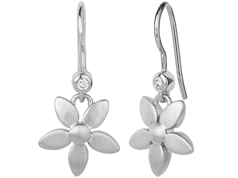 Product standard 4 017 r   bybiehl   forget me not  earhangers   silver
