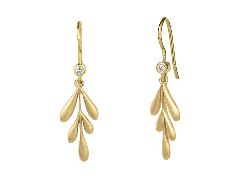 Product standard 4 2301a gp   bybiehl   forest  earring    gold plated