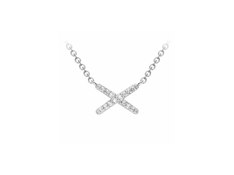 Product standard 5.19.7314   fourth avenue   our white gold   cz carissima cross necklaces   white gold