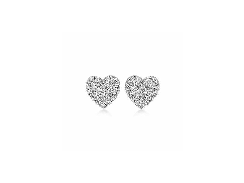Product standard 5.56.8029   fourth avenue   our white gold   cz heart stud earrings   white gold