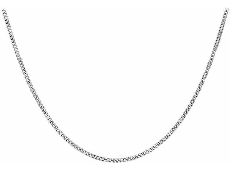 Product standard 8.13.0030   fourth avenue   our silver panza curb chain necklaces    silver