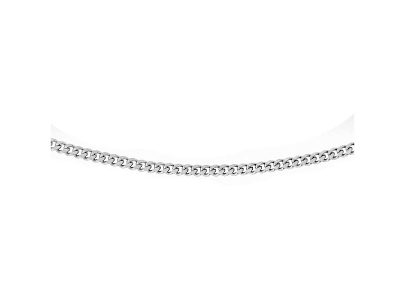 Product standard 8.13.0031   fourth avenue   our silver panza curb chain necklaces    silver