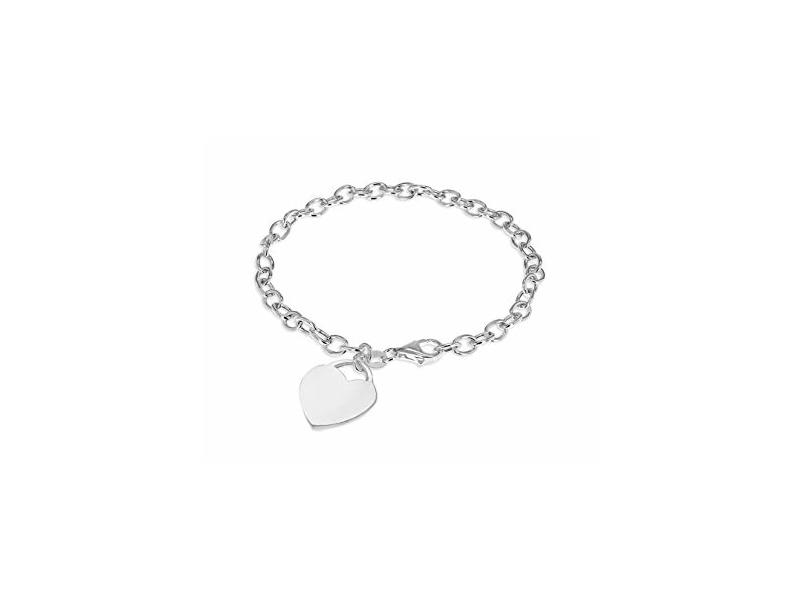 Fourth Avenue Silver Belcher Heart Bracelet