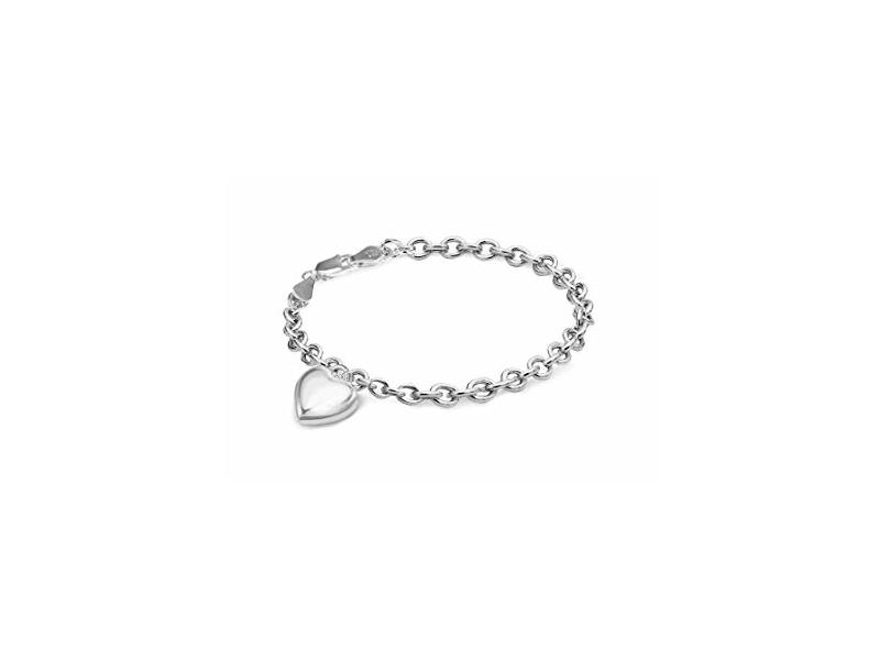 Product standard 8.24.6662   fourth avenue   our silver belcher puffed heart bracelets   silver