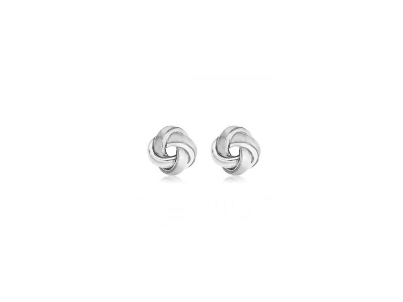 Product standard 8.55.7319   fourth avenue   our silver ribbed knot stud earrings   silver