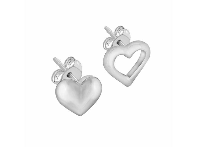 Product standard 8.55.8619   fourth avenue   our silver tuscany heart stud earrings    silver