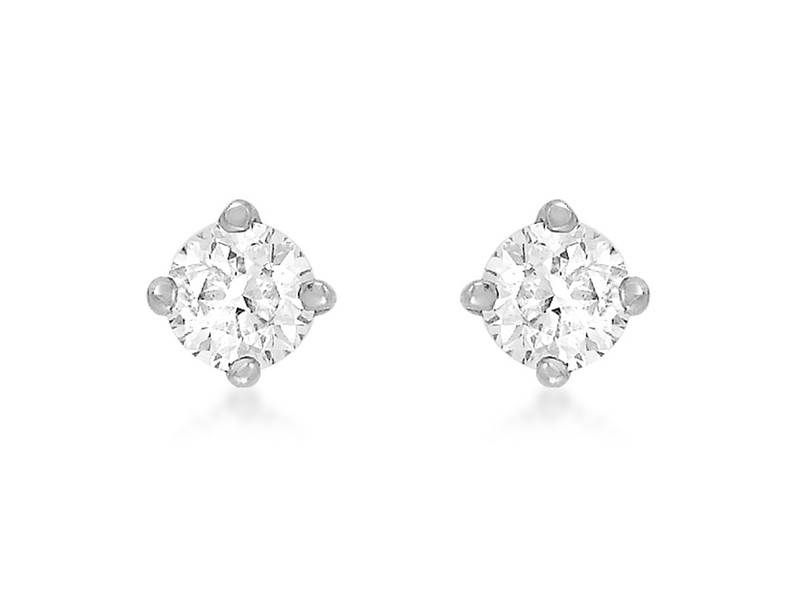 Product standard 8.57.7009   fourth avenue   our silver   cz solitaire stud earrings   silver