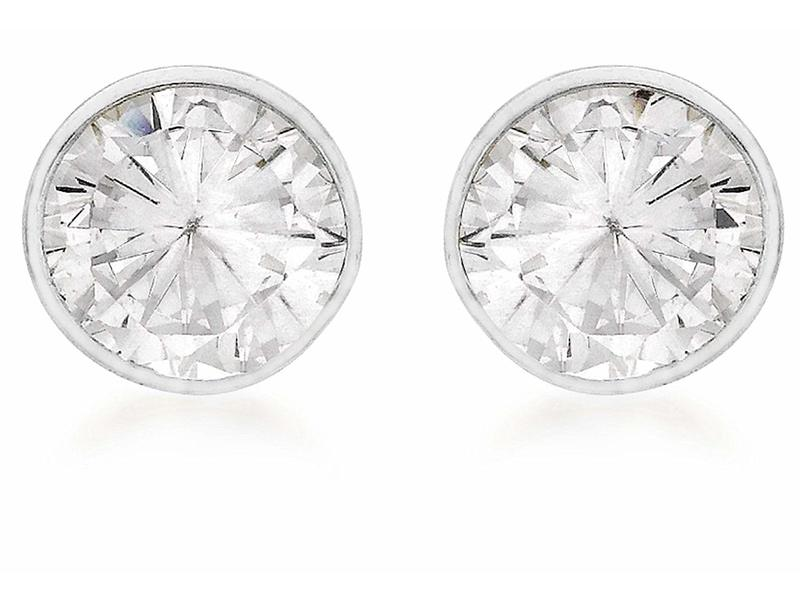 Product standard 8.57.7769   fourth avenue   our silver   cz rub over stud earrings    silver