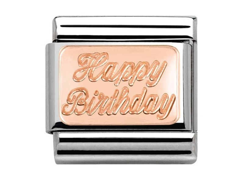 Product standard 430101 29   nomination italy   composable rose happy birthday link    rose gold   8033497409119