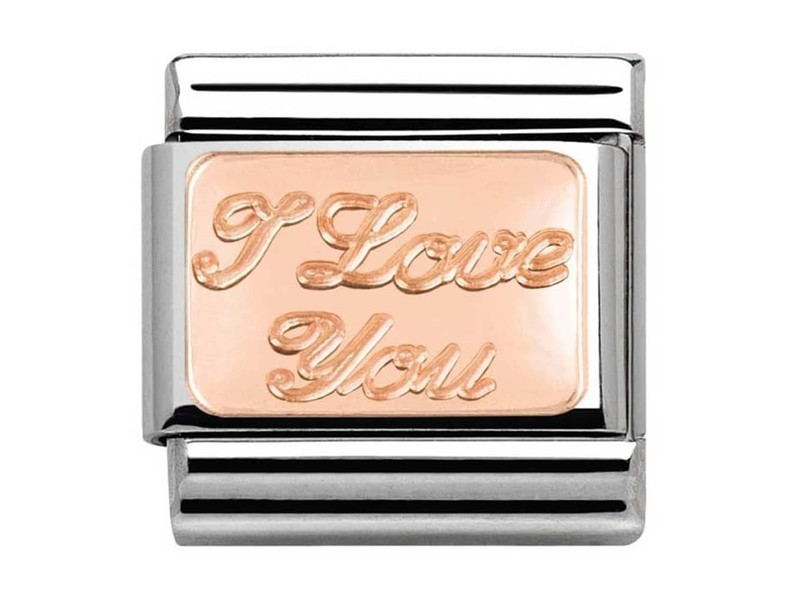 Product standard 430101 30   nomination italy   composable rose i love you link    rose gold   8033497409126