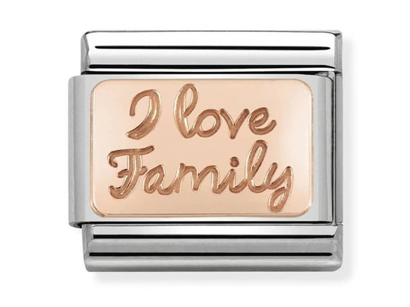Product standard 430101 41   nomination italy   composable rose i love family link    rose gold   8033497430670