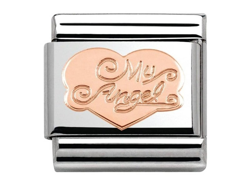 Product standard 430104 02   nomination italy   composable my angel heart link    rose gold   8033497384904