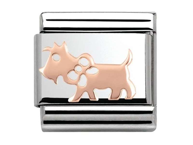 Product standard 430104 10   nomination italy   composable rose dog link    rose gold   8033497385475