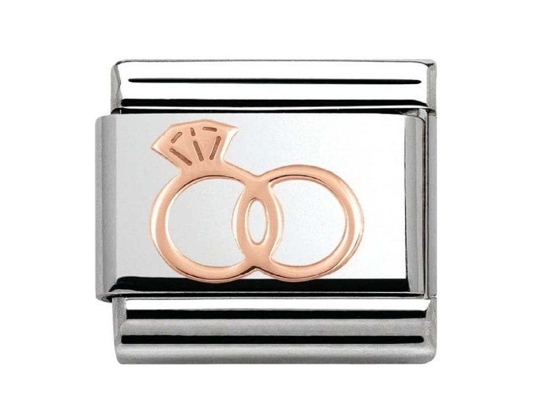 Product standard 430104 13   nomination italy   composable rose wedding rings link   rose gold   8033497385505