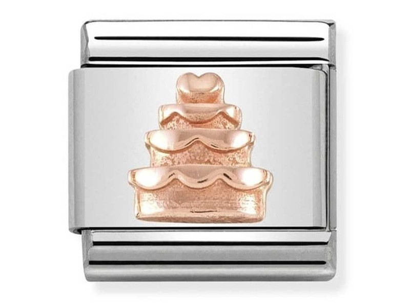 Product standard 430106 02   nomination italy   composable wedding cake link    rose gold   8033497430564