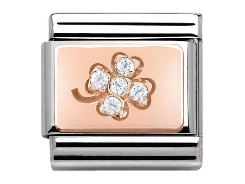 Product standard 430302 02   nomination italy   composable four leaf clover link   rose gold   8033497365446