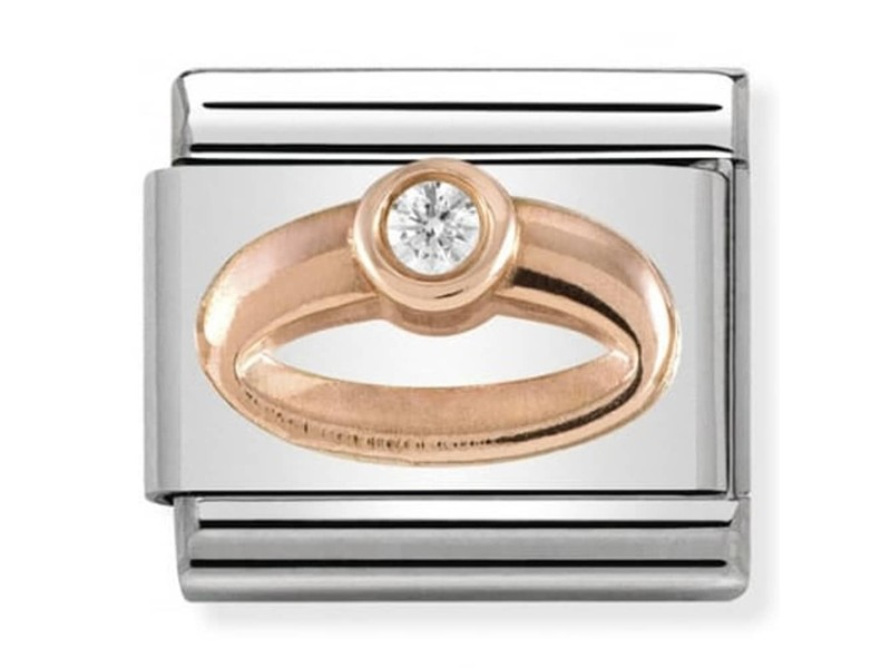 Product standard 430305 04   nomination italy   composable solitaire ring link    rose gold   8033497430687