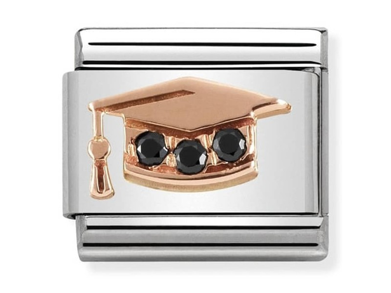 Product standard 430305 11   nomination italy   composable graduation hat link   rose gold   8033497430755