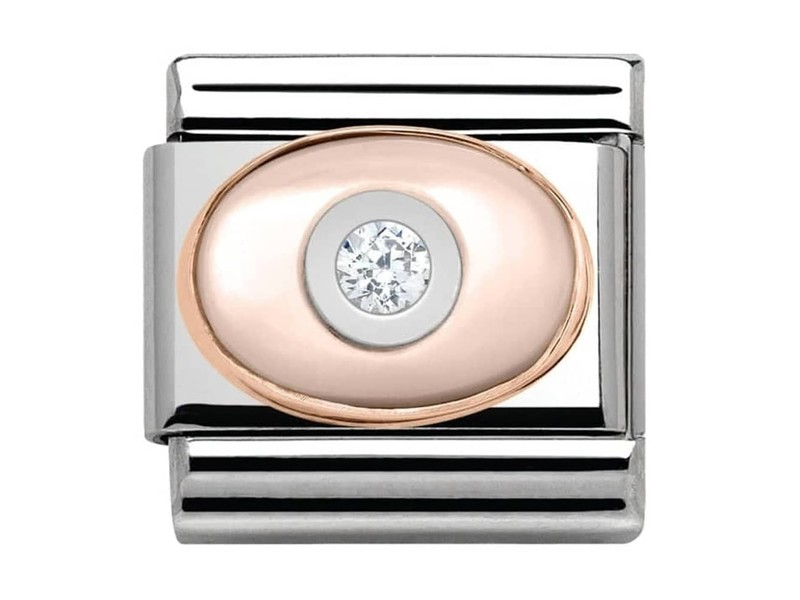 Product standard 430504 02   nomination italy   composable stone set pink mother of pearl link    rose gold   8033497388919