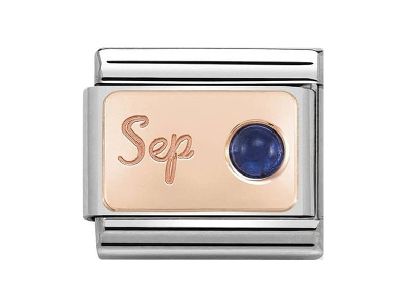 Product standard 430508 09   nomination italy   composable september birthstone link   rose gold   8033497441119