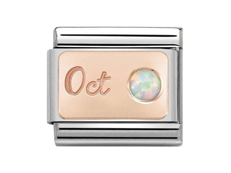 Product standard 430508 10   nomination italy   composable october birthstone link    rose gold   8033497441126