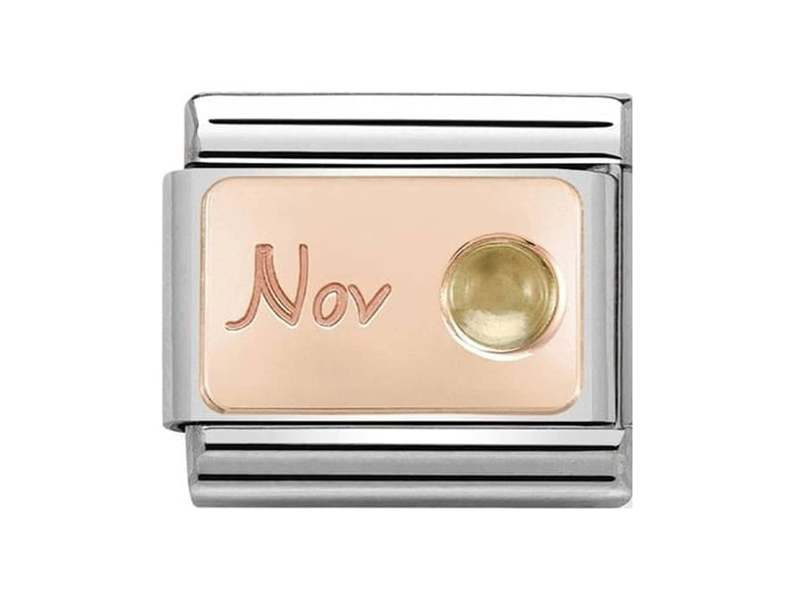 Product standard 430508 11   nomination italy   composable november birthstone link   rose gold   8033497441133